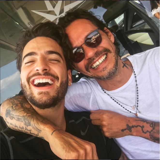 161 Imperdible Maluma Y Marc Anthony Cantaron Felices Los 4 Video Revista Ronda