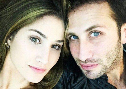 Mariam Habach y su novio