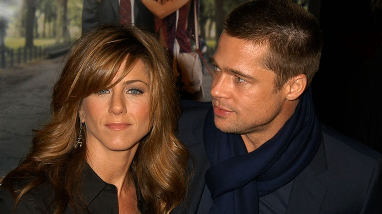 Jennifer Aniston y Brad Pitt cuando eran pareja