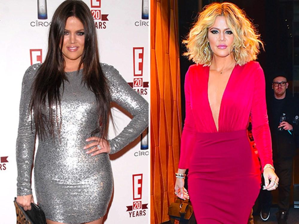 Resultado de imagen para 5.Khloe Kardashian gordo y flaco