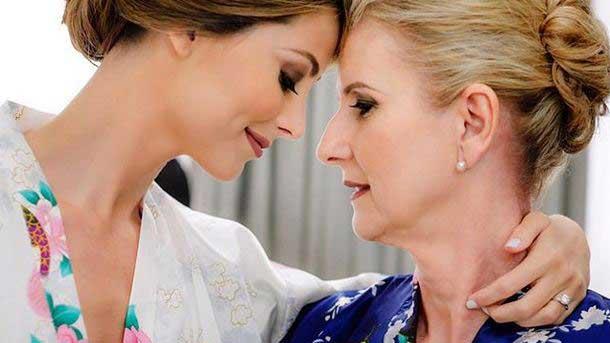 Stefanía Fernández Krupij y su madre