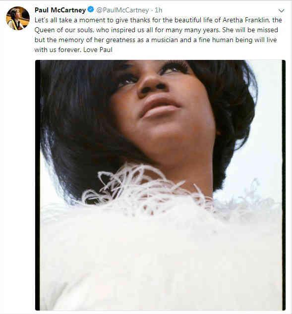Famosos Le Dicen Adiós A Aretha Franklin Revista Ronda