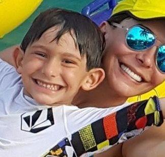Viviana Gibelli e hijo