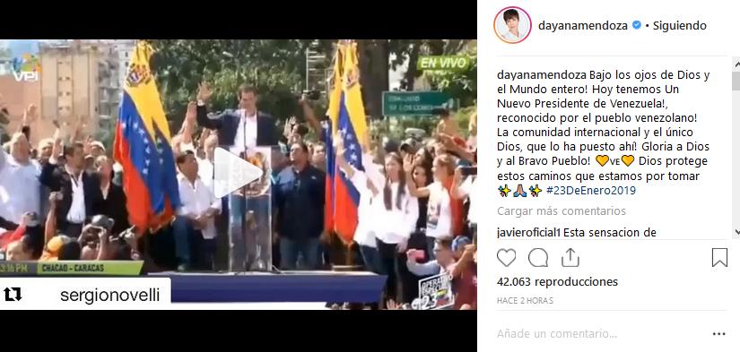 Conoce los artistas que apoyaron juramentación de Guaidó