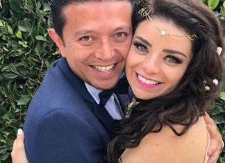 Violeta Isfel se casó y no avisó