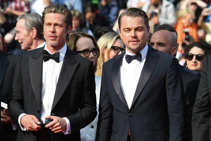 Leonardo DiCaprio y Brad Pitt robaron miradas con su pinta