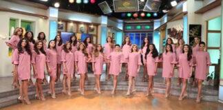 Las 24 candidatas del Miss Venezuela reciben sus bandas