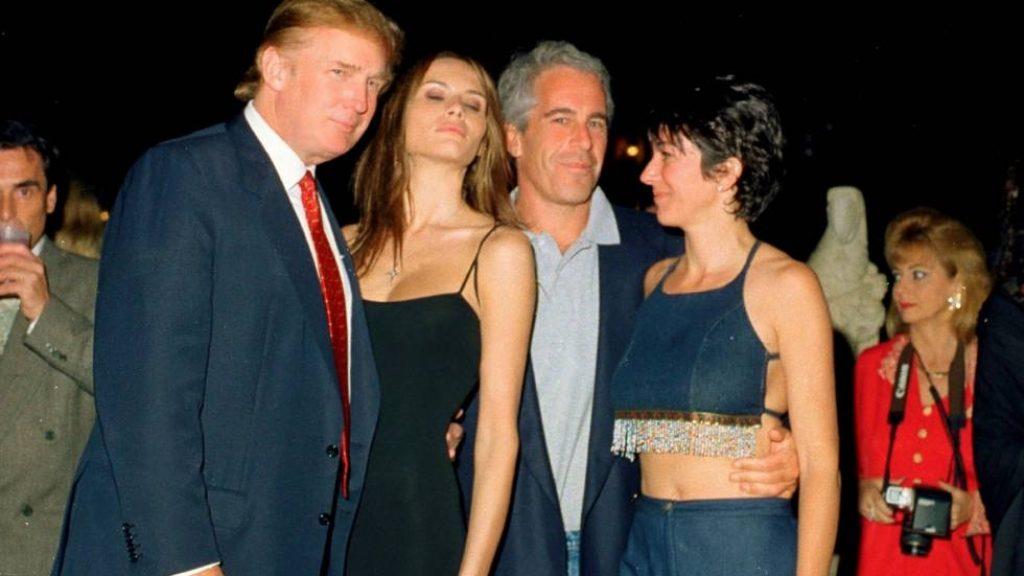 Donald Trump, Melania Trump, Jeffrey Epstein y Ghislaine Maxwell - Cortesía