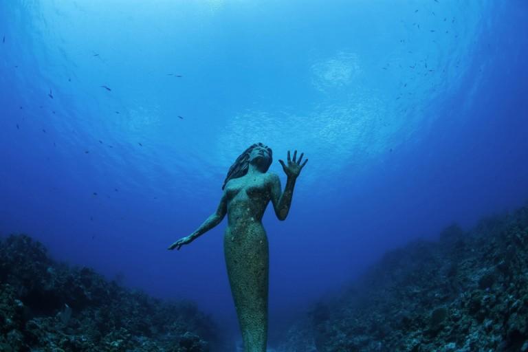 Estatua bajo el agua- Foto-Cortesía