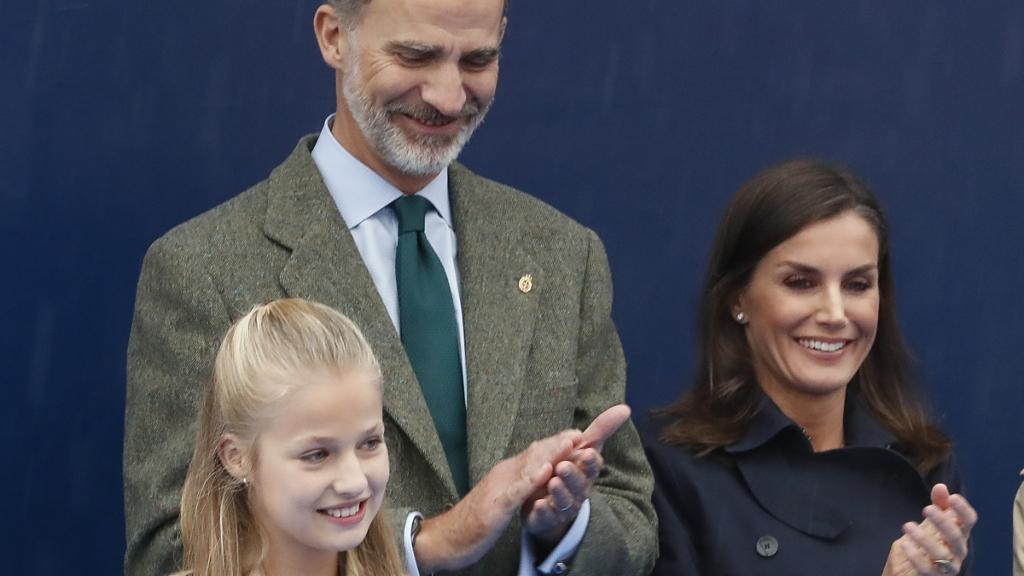 Leonor y sus padres - Cortesía