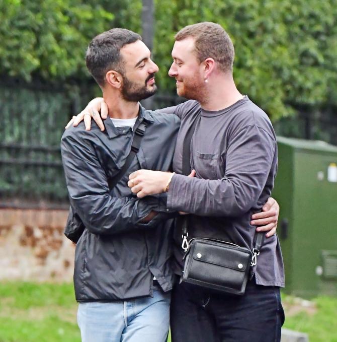 Sam-Smith y su novio-Foto Cortesía