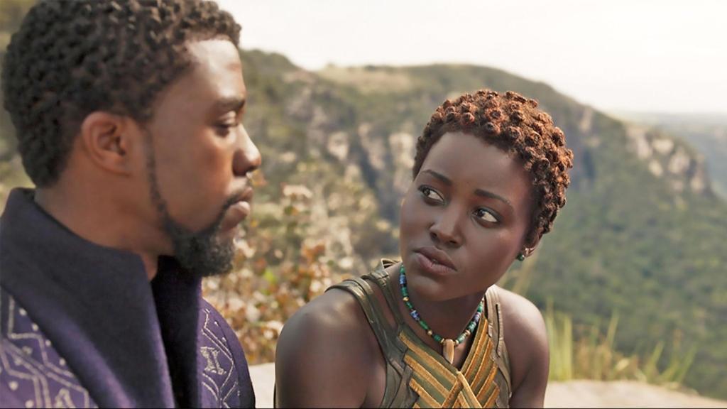 Lupita Nyong'o y Chadwick Boseman Pantera Negra -Foto-Cortesía