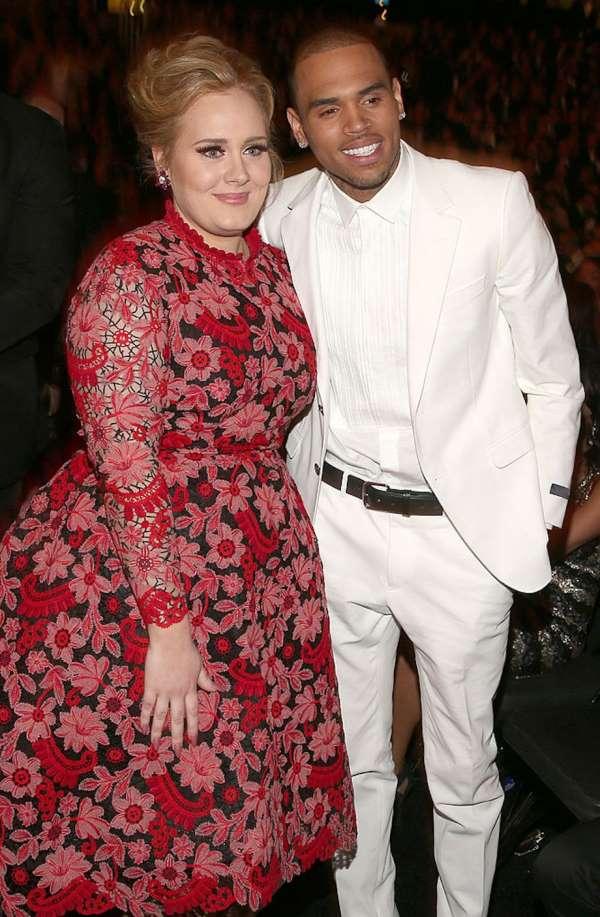 Adele y Chris Brown