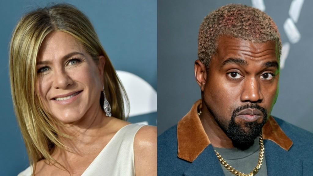 Jennifer Aniston y Kanye West- Foto Cortesía