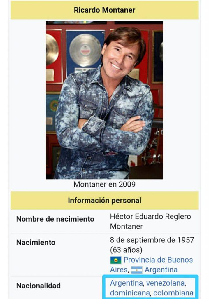 Ricardo Montaner y su cuatro nacionalidad- Foto Cortesía