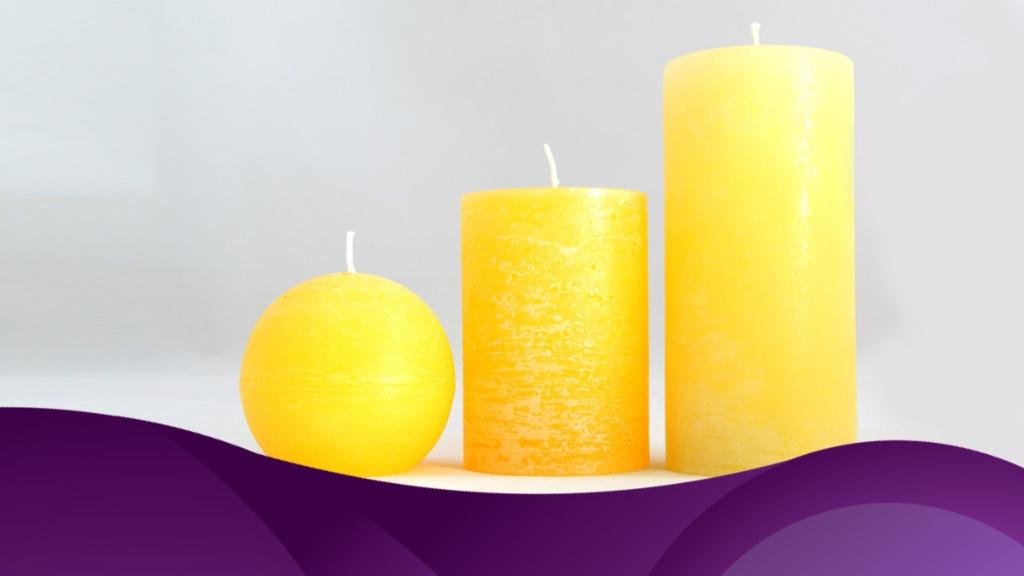 Velas amarillas - Cortesía