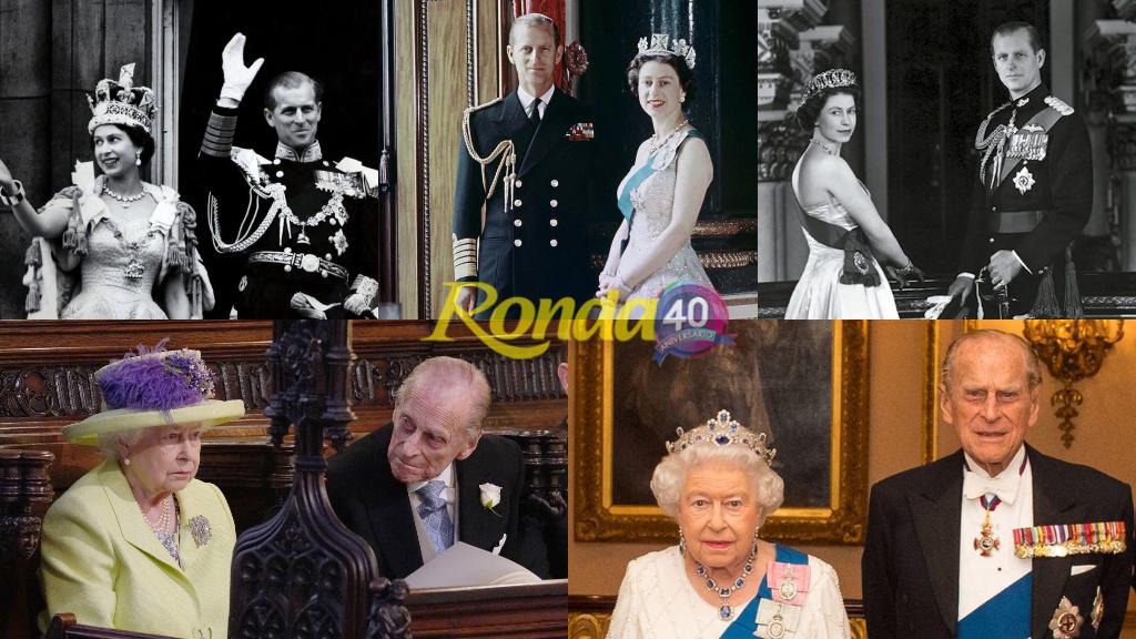 Felipe de Edimburgo e Isabel II - Composición Ronda