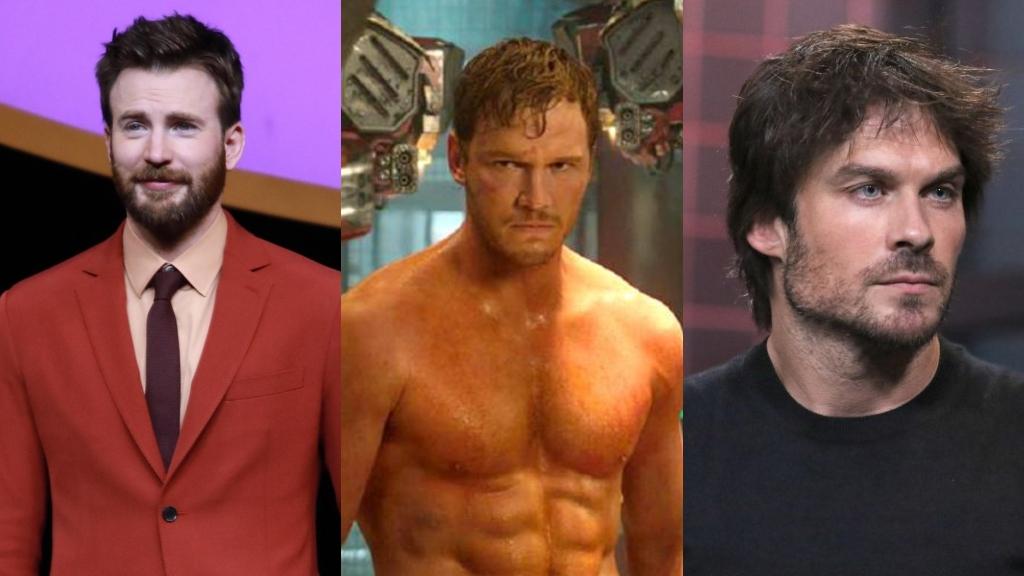 Evans, Chris Pratt e Ian Somerhalder