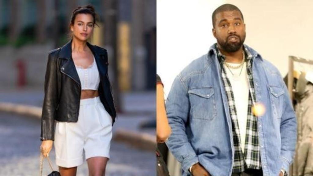 Irina Shayk y Kanye West-Cortesía