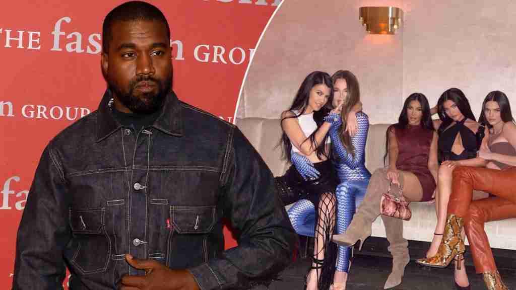 Kanye West y hermanas Kardashian