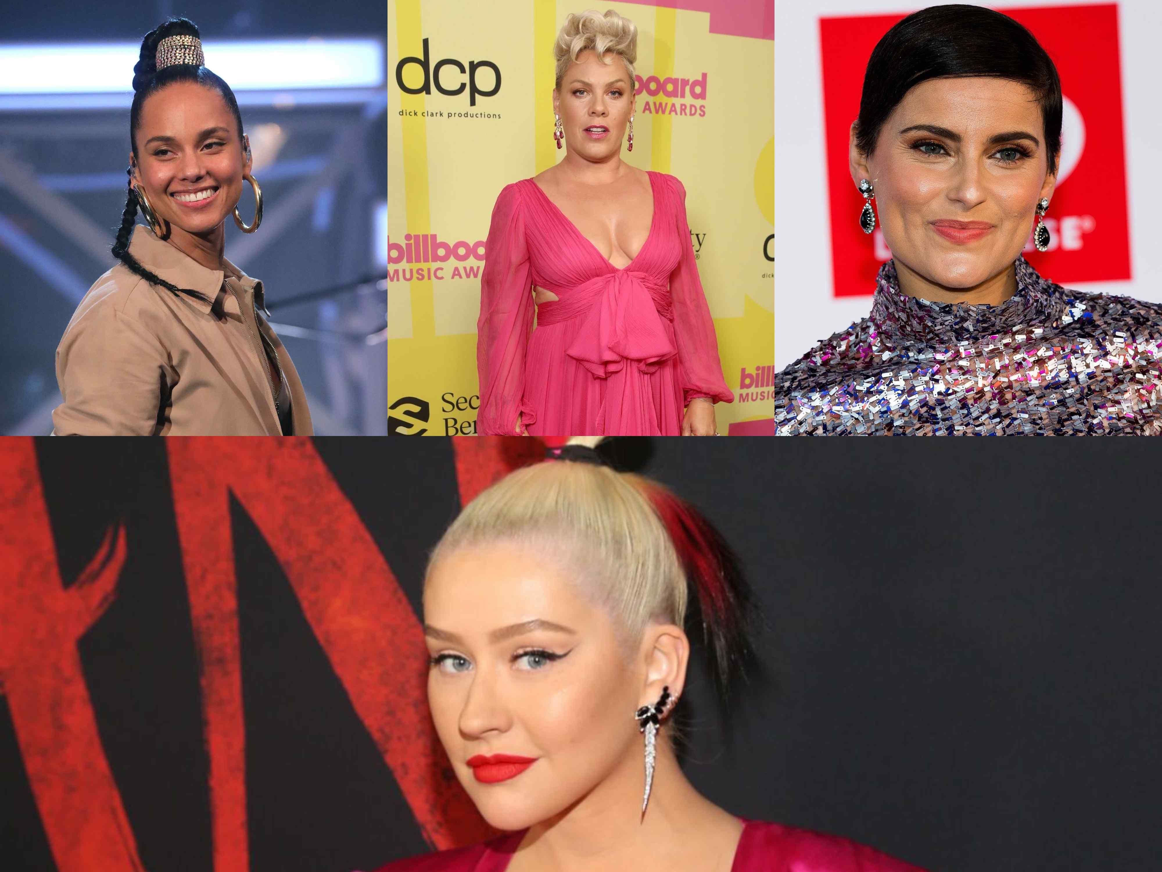 Alicia Keys, Pink, Nelly Furtado y Cristina Aguilera - Composición (1)