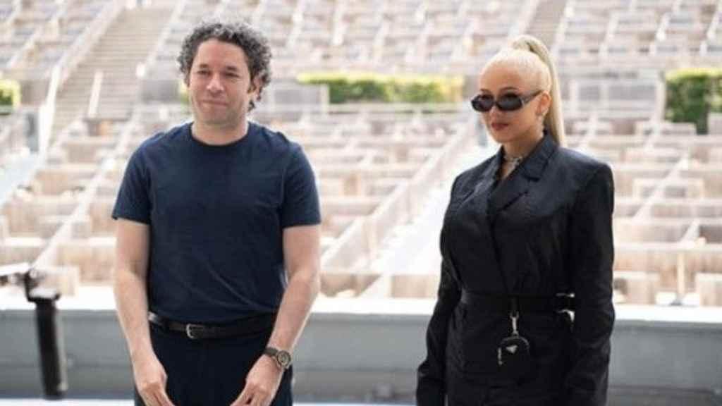 Gustavo Dudamel y Christina Aguilera